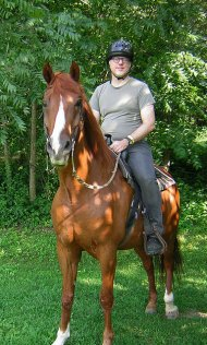 Mężczyzna na koniu