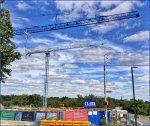 żurawie budowlane, budowa